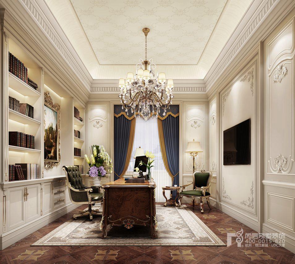 书房溪上玫瑰园排屋法式风格装修设计效果图图片