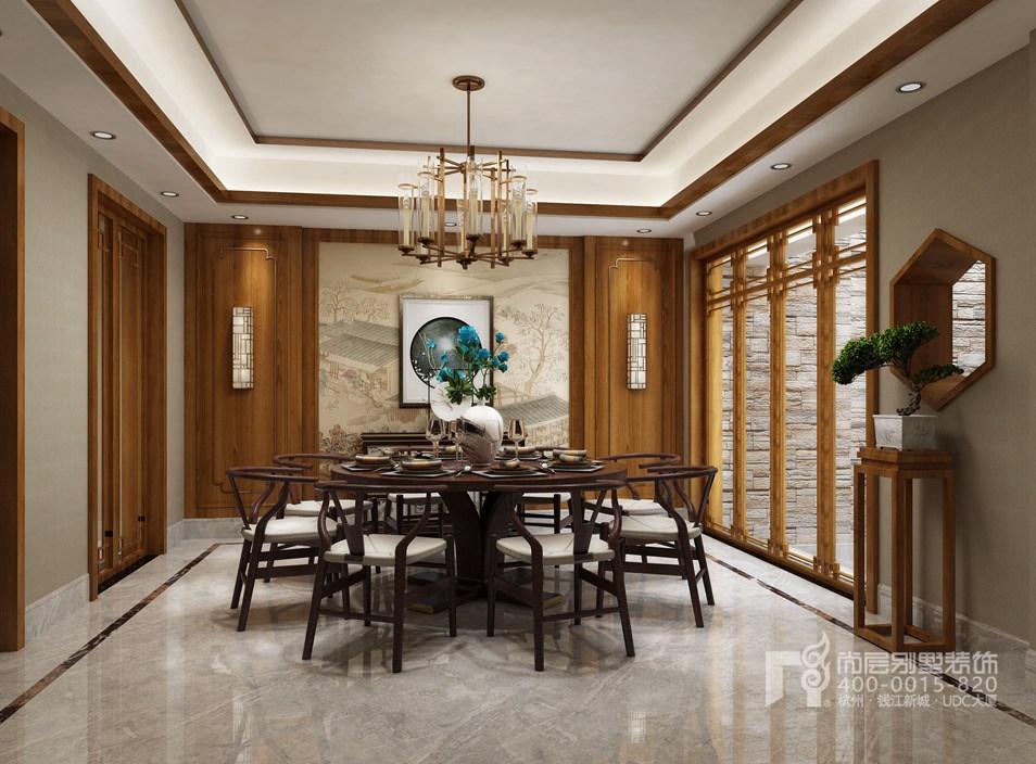 别墅餐厅新中式风格装修设计效果图