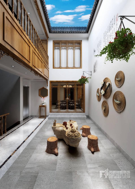 别墅庭院新中式风格装修设计效果图