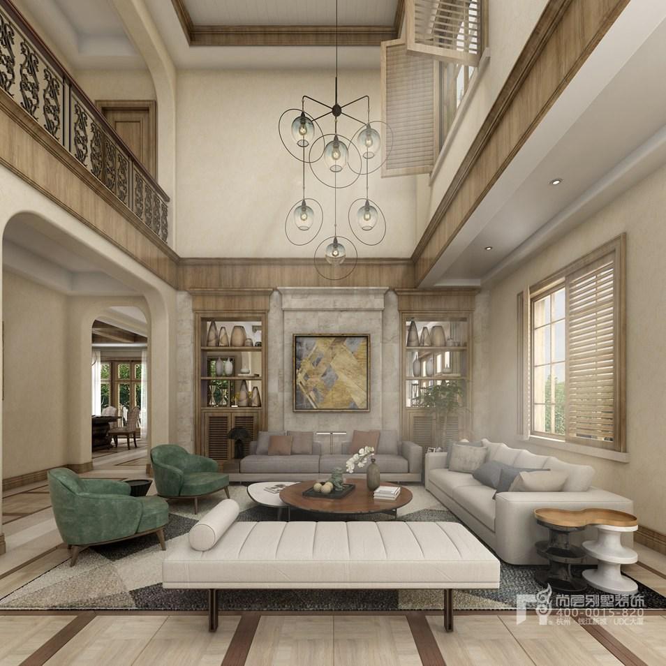 別墅客廳托斯卡納風格裝修設計效果圖