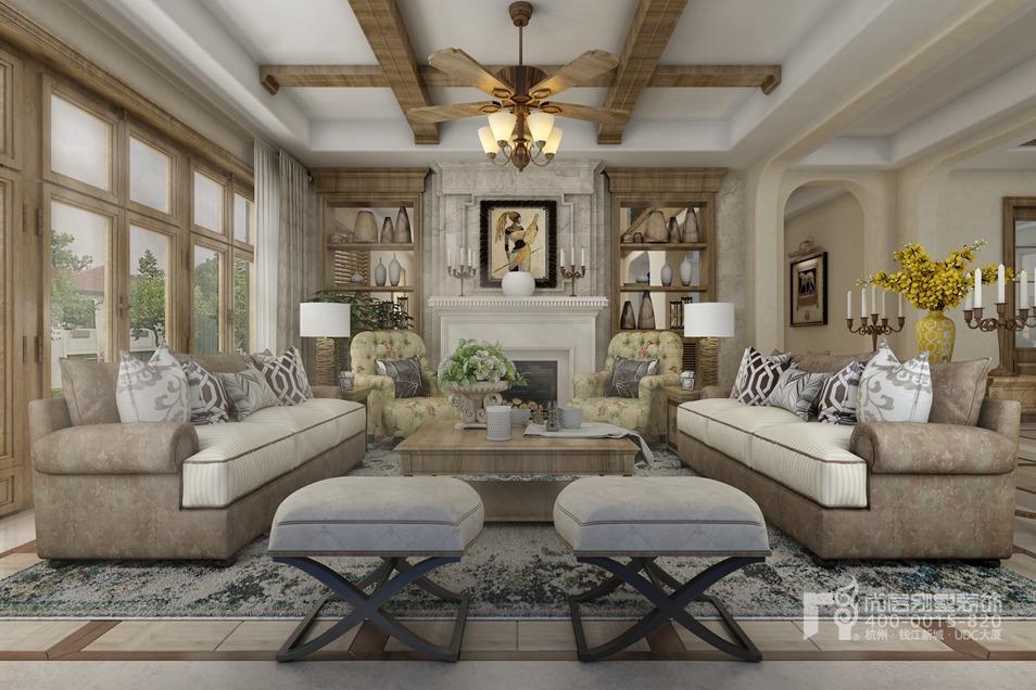別墅會客室托斯卡納風格裝修設計效果圖