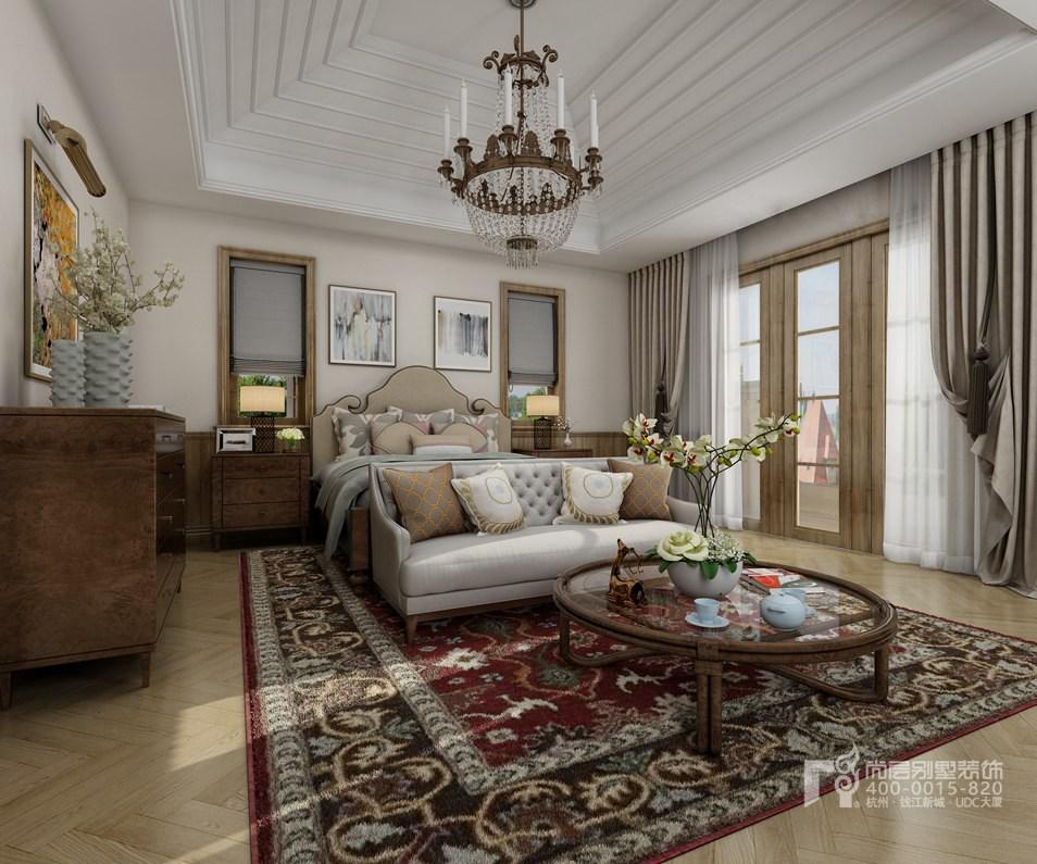 別墅臥室托斯卡納風格裝修設計效果圖