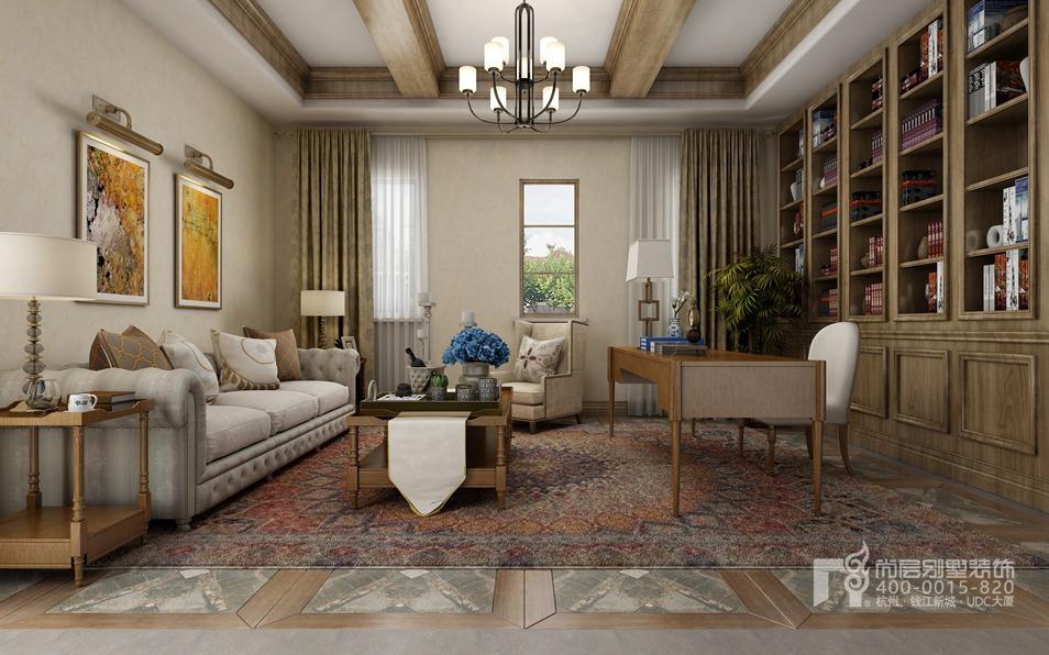 別墅家庭室托斯卡納風格裝修設計效果圖