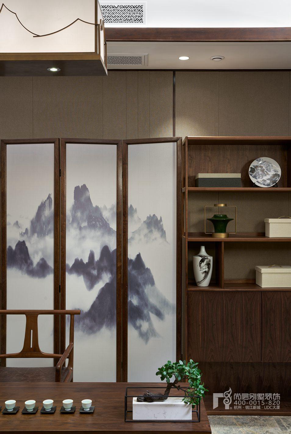 书房软装新中式风格别墅装修设计样板房