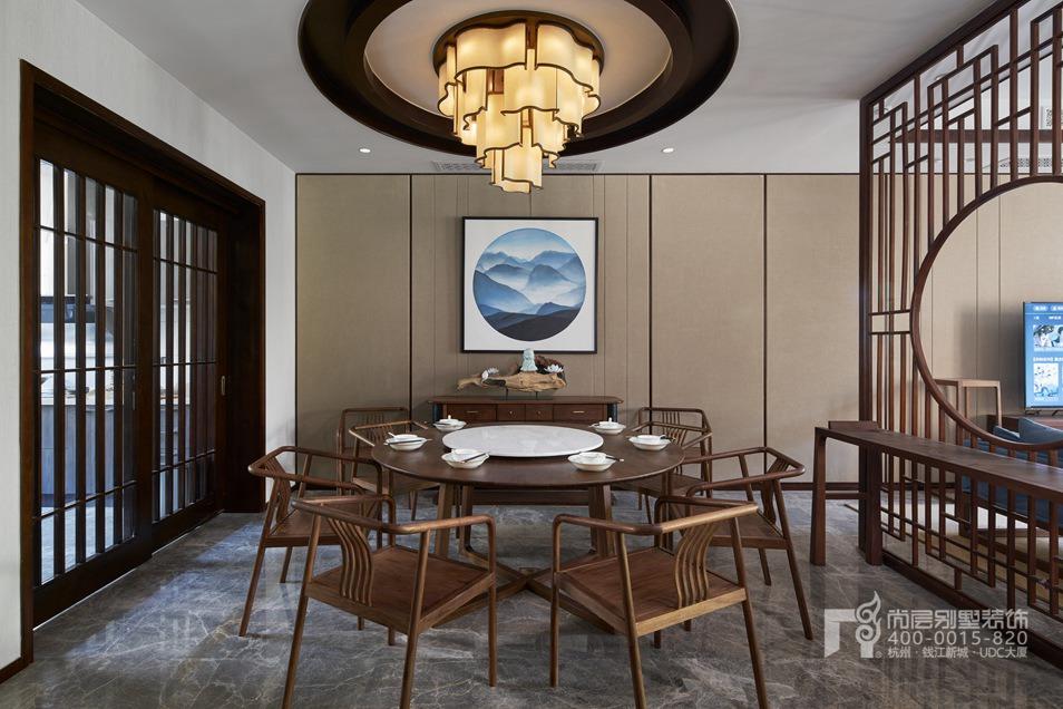 餐厅新中式风格别墅装修设计样板房