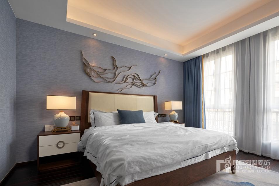 卧室新中式风格别墅装修设计样板房