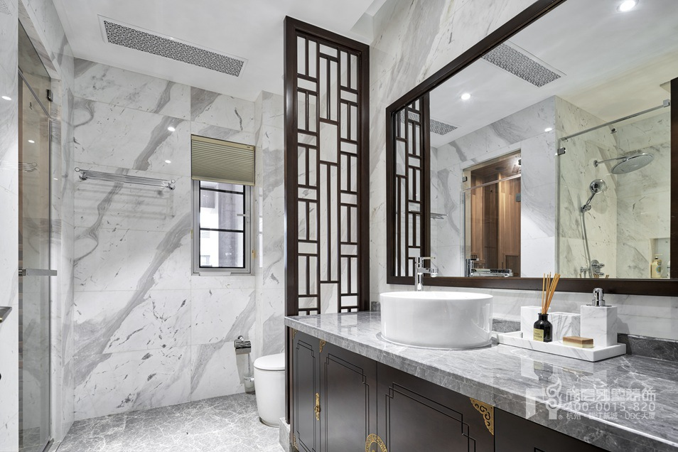 卫浴间新中式风格别墅装修设计样板房