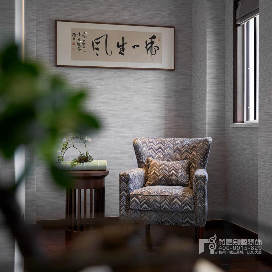卧室细节新中式风格别墅装修设计样板房
