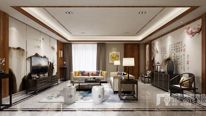 400方别墅新中式风格设计装修效果图
