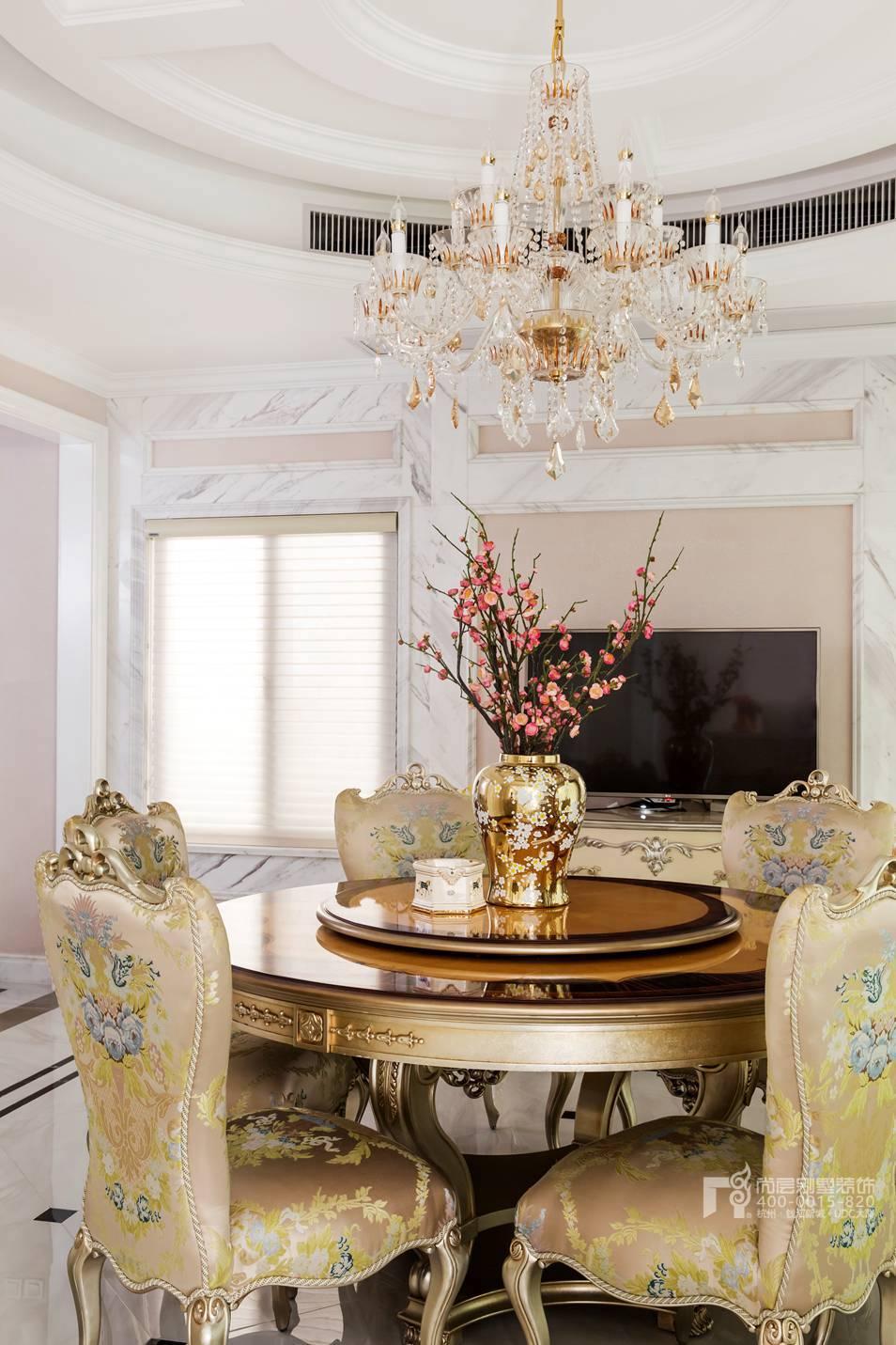 餐厅现代法式风格别墅装修实景图