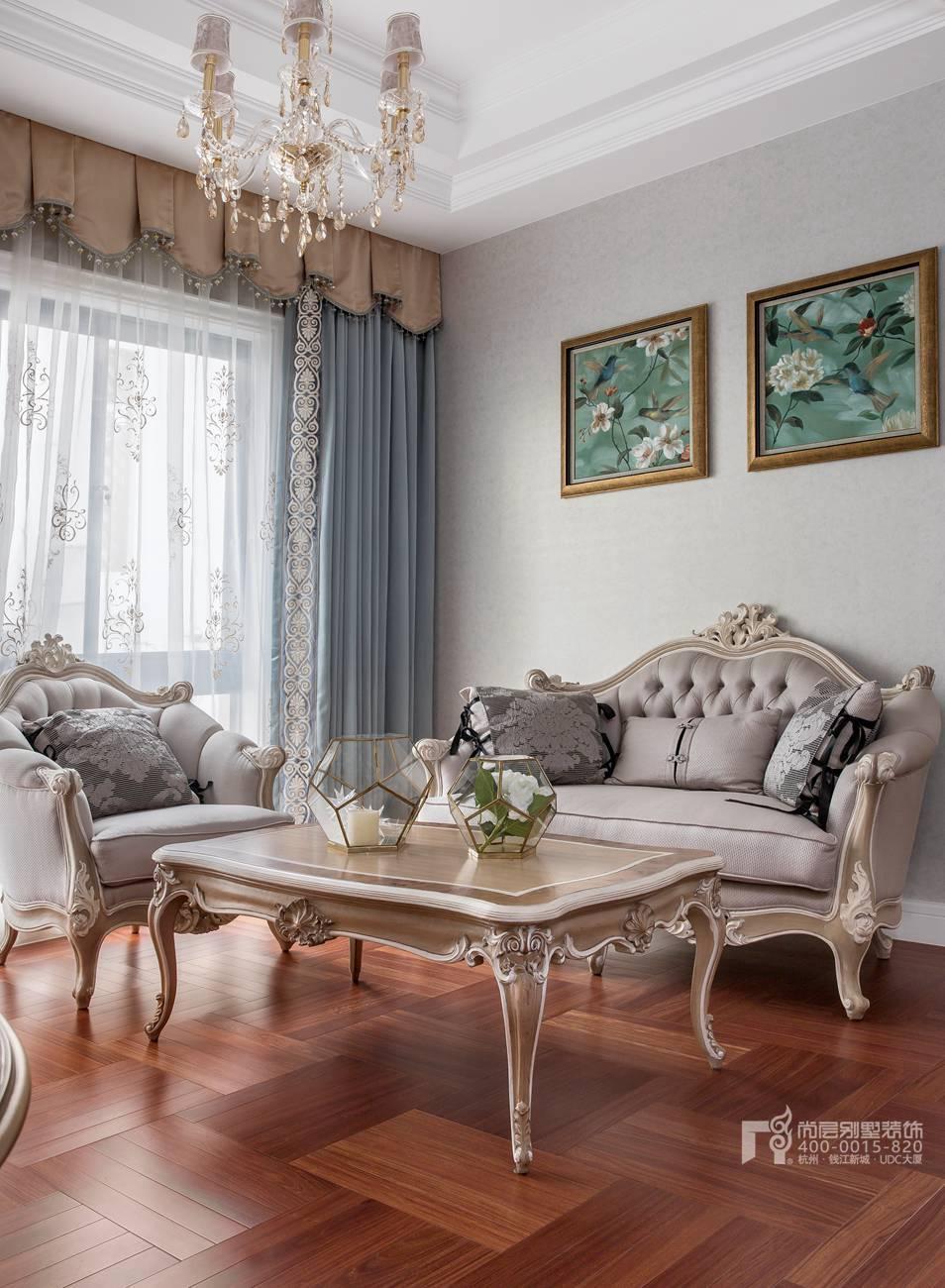 休闲室现代法式风格别墅装修实景图
