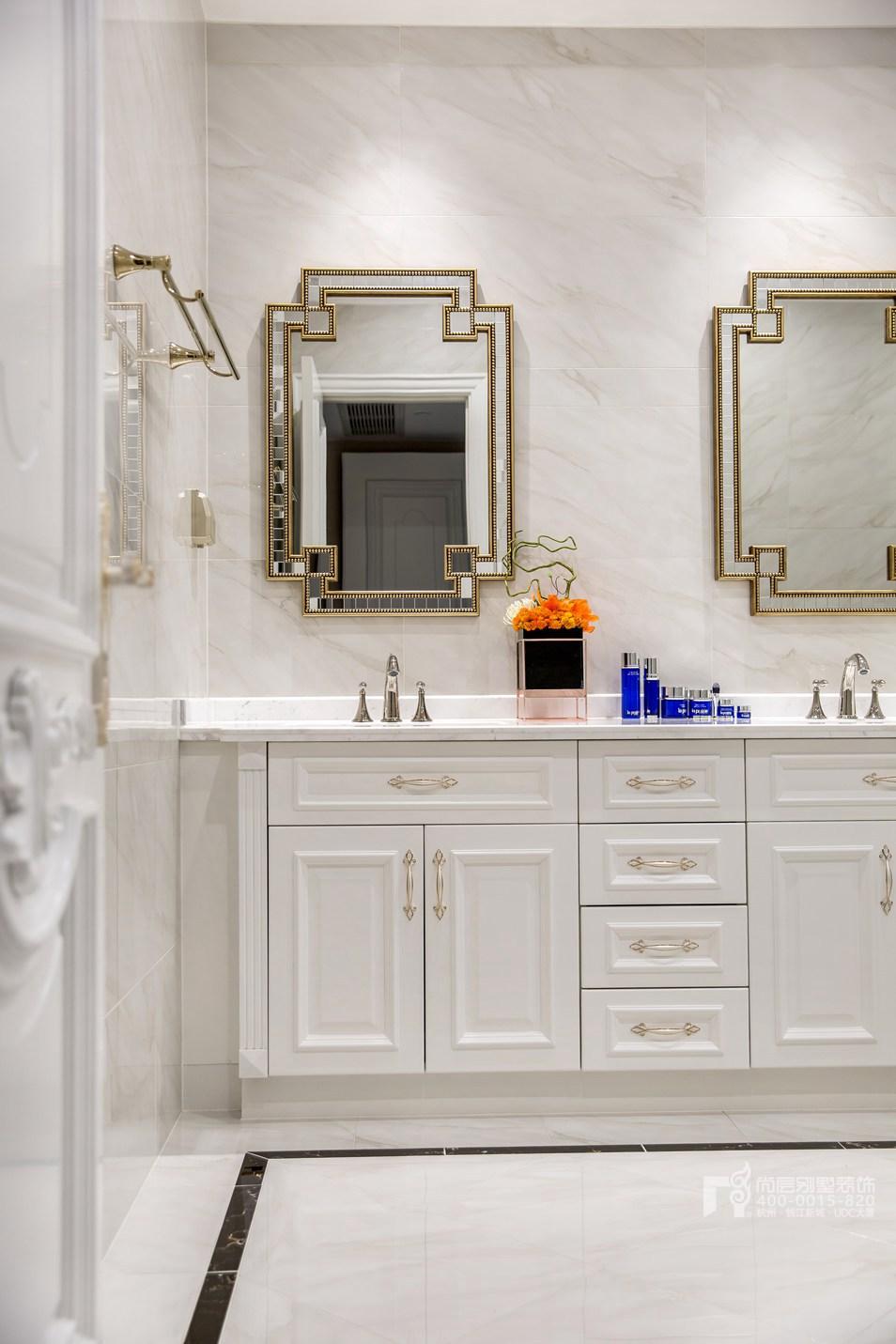 卫浴间现代法式风格别墅装修实景图
