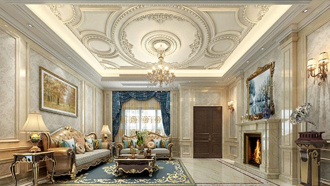 别墅法式风格装修设计效果图