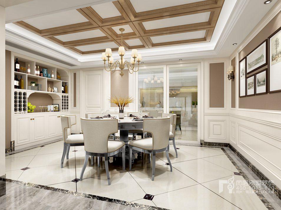 餐厅简美风格别墅装修设计效果图