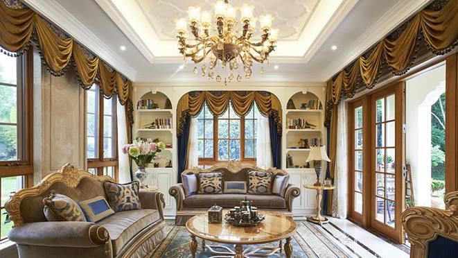 青山湖欧式风格别墅装修样板房设计