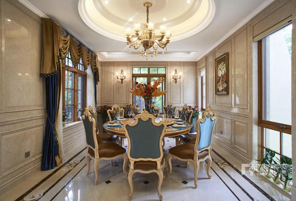 别墅餐厅欧式风格样板房装修设计