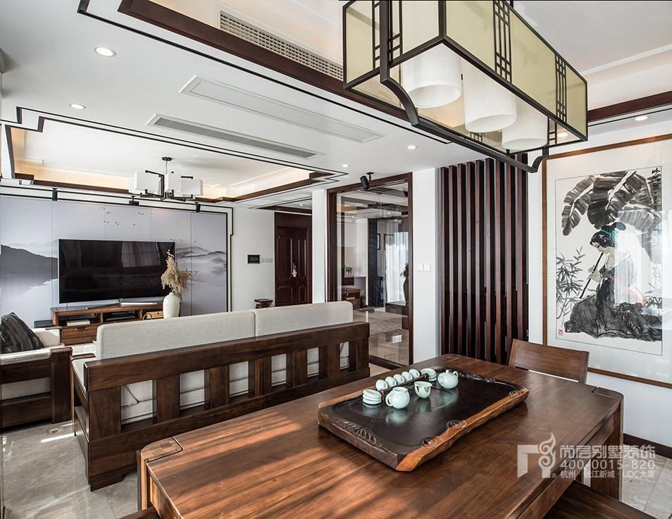 新中式风格顶跃样板房装修设计