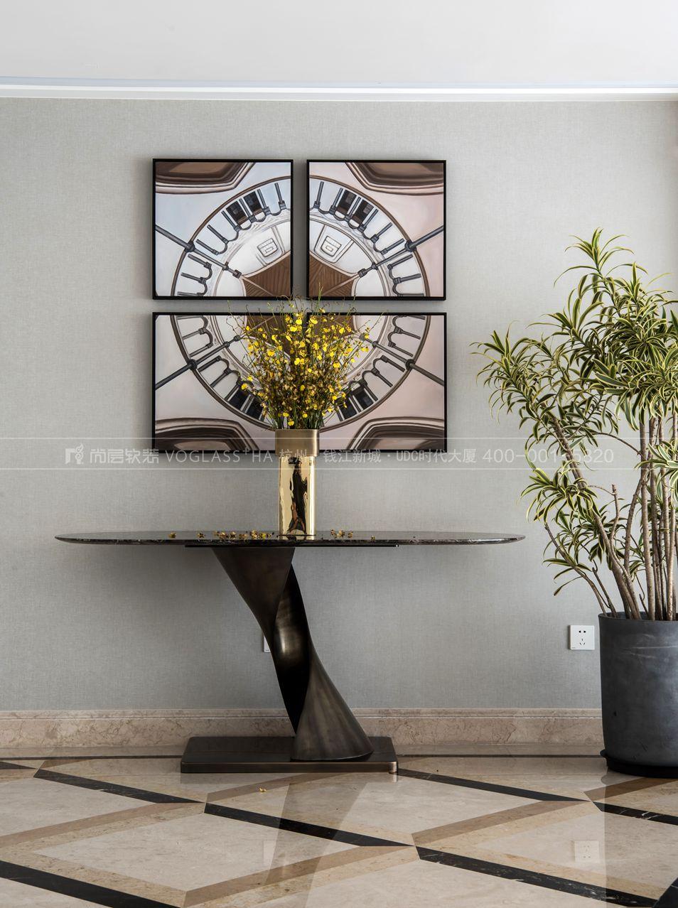 客厅现代轻奢风格跃层样板间装饰设计