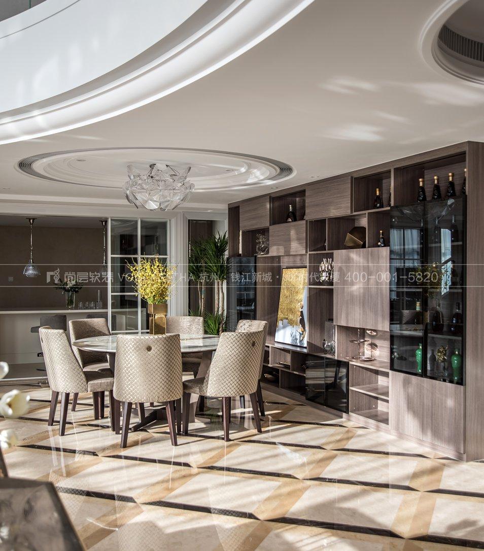 餐厅现代轻奢风格跃层样板间装饰设计