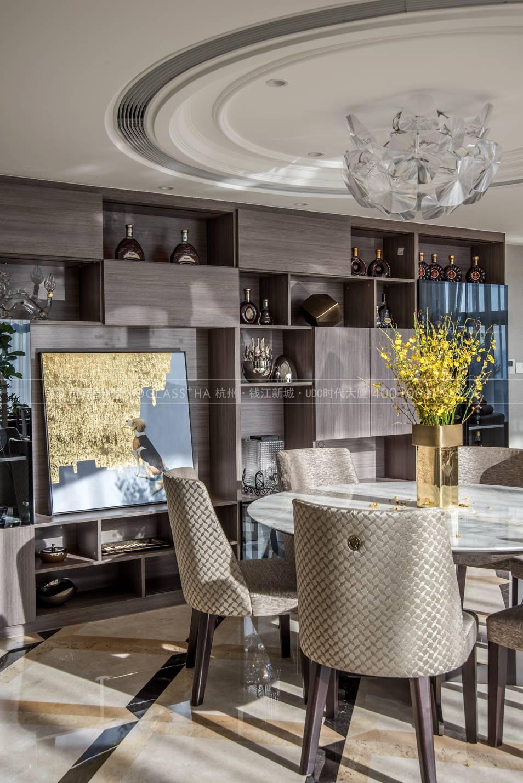 餐厅细节现代轻奢风格跃层样板间装饰设计