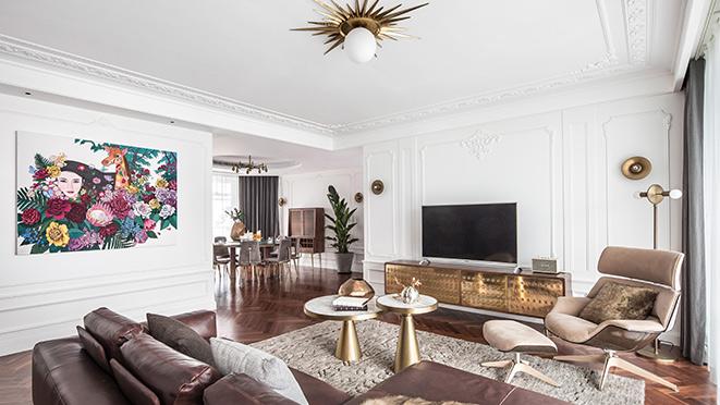 东方润园现代法式风格样板房装修设计