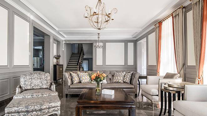 现代简美风格别墅样板房装修设计
