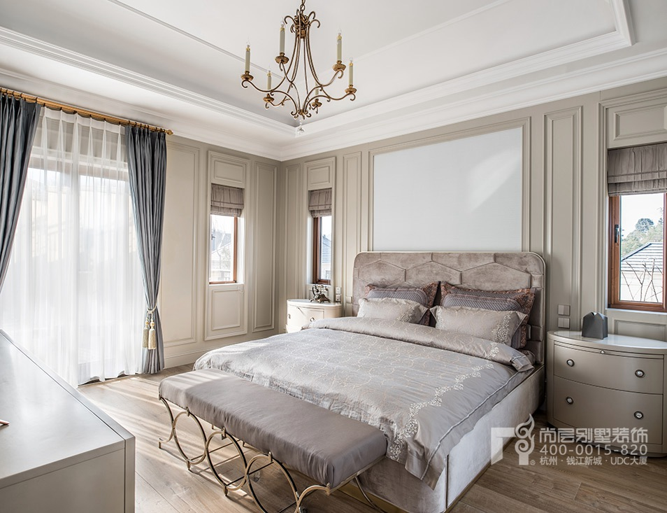曼陀花園現代美式風格400方別墅樣板房裝修設計_杭州