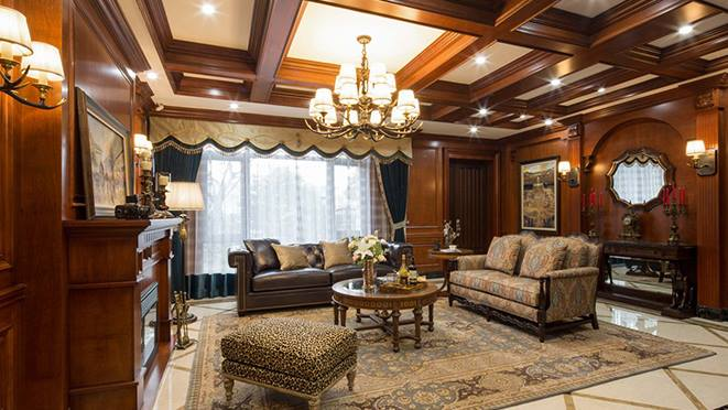 柯桥新古典风格别墅装修样板房设计