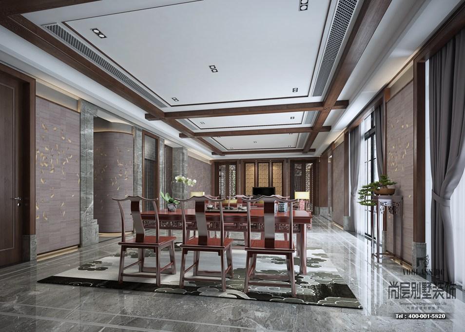 客厅别墅中式装修风格设计效果图