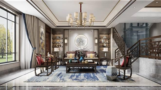 西溪玫瑰园中式别墅装修风格效果图设计