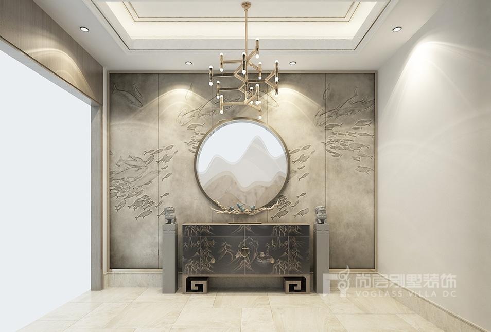 新中式风格别墅设计效果图