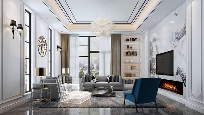新欧式风格别墅装修设计效果图