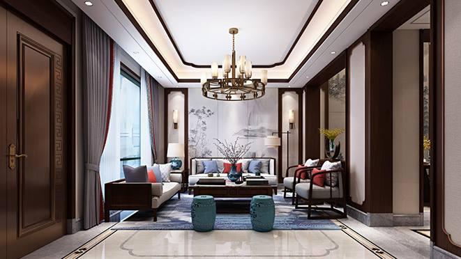 杭州别墅装修设计中式风格效果图
