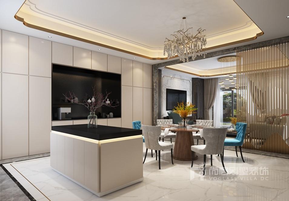 金科天玺别墅装修设计效果图—餐厅