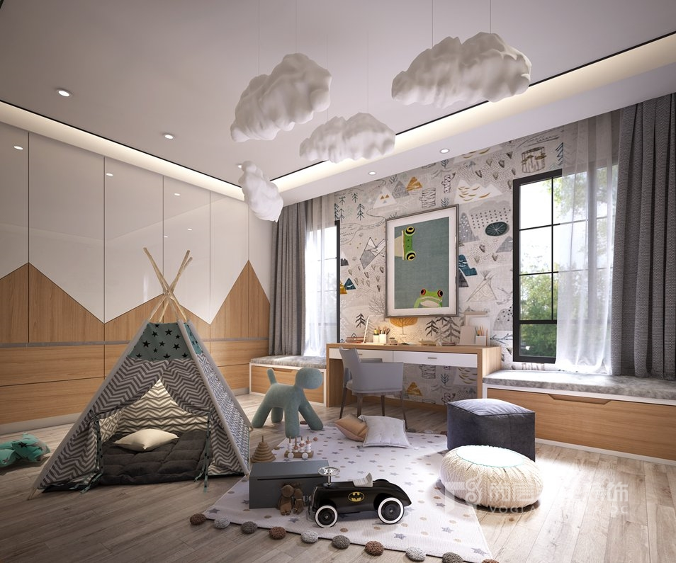 金科天玺别墅装修设计效果图-儿童房