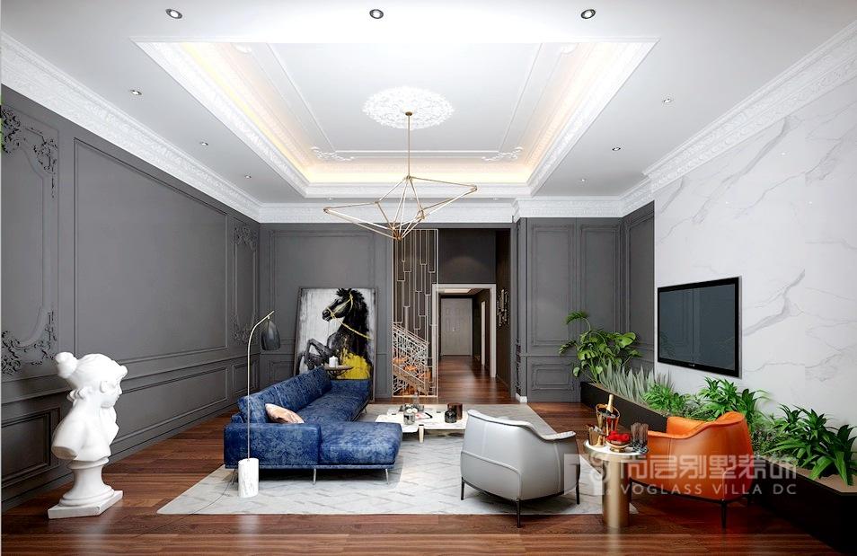 誉天下别墅装修设计客厅效果图