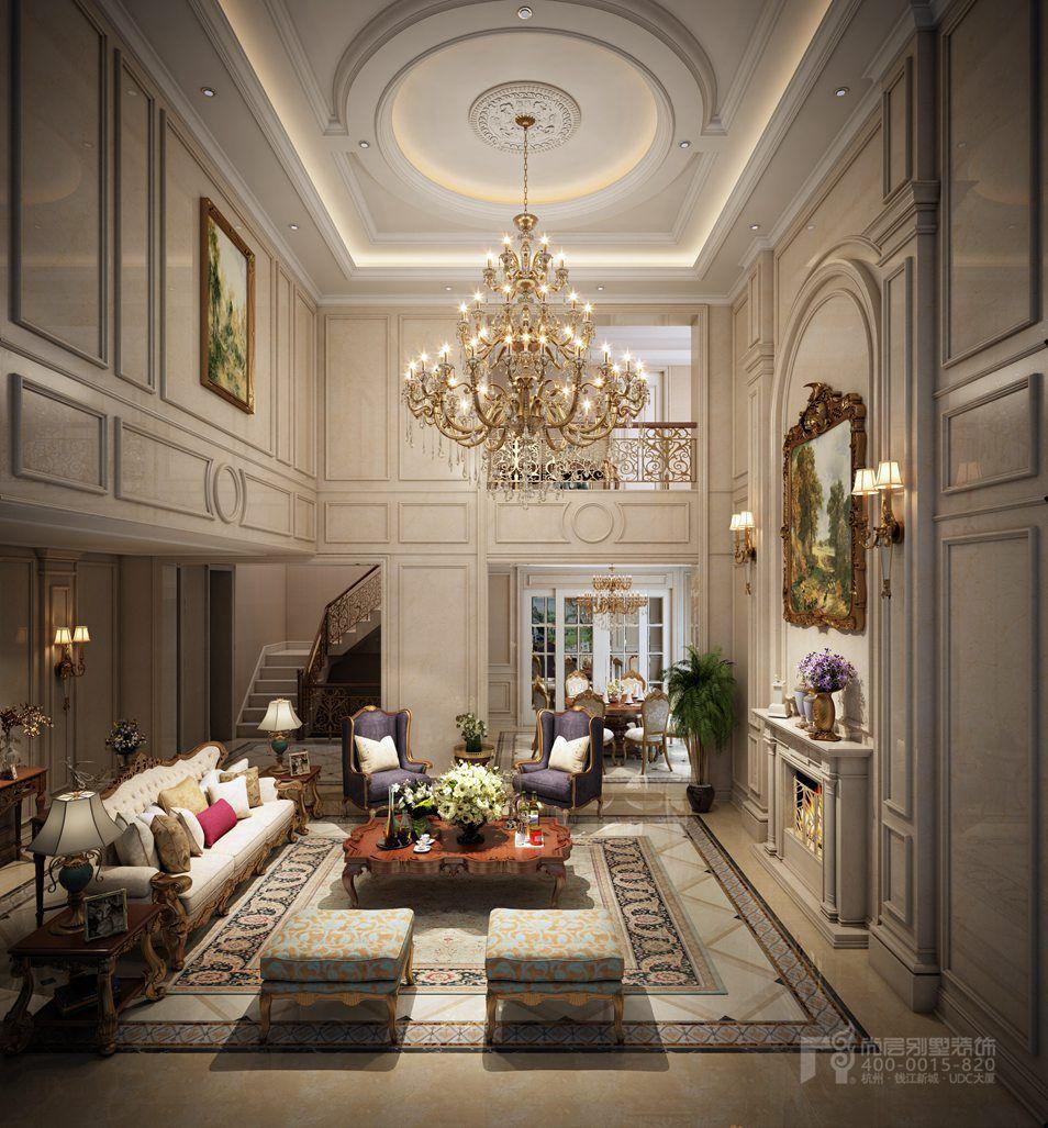 欧式风格别墅装修设计,三层别墅罗马柱什么样?
