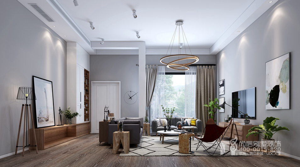 盛世嘉园300方北欧风格别墅装修设计效果图