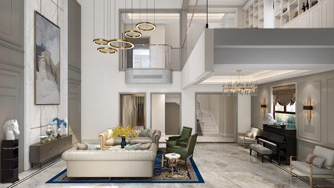 优山美地现代美式风格别墅装修设计效果图