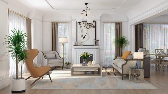 当代美式风格别墅装修设计效果图