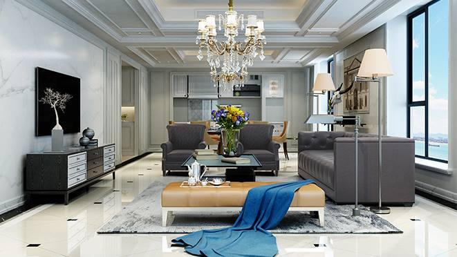 郡原相江公寓255平米现代法式风格别墅装修效果图