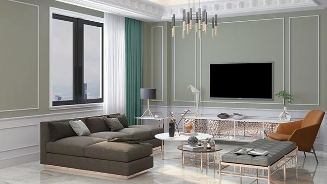十二橡树340平米现代简欧风格别墅装修效果图