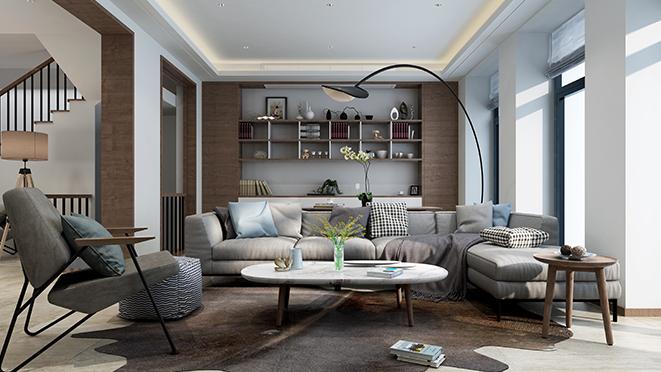 富春玫瑰园390平米现代风格别墅装修效果图