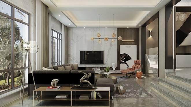 阳光城上府500平米现代风格别墅装修效果图案例