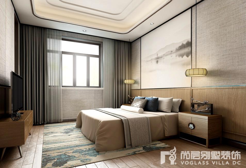 远洋傲北中式简约装修设计案例