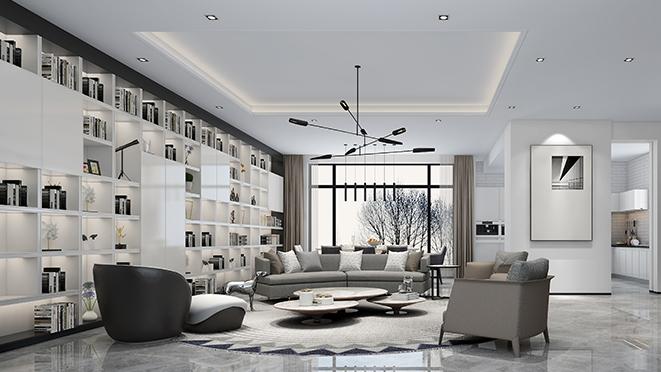 翡翠城600平米现代风格别墅装修效果图