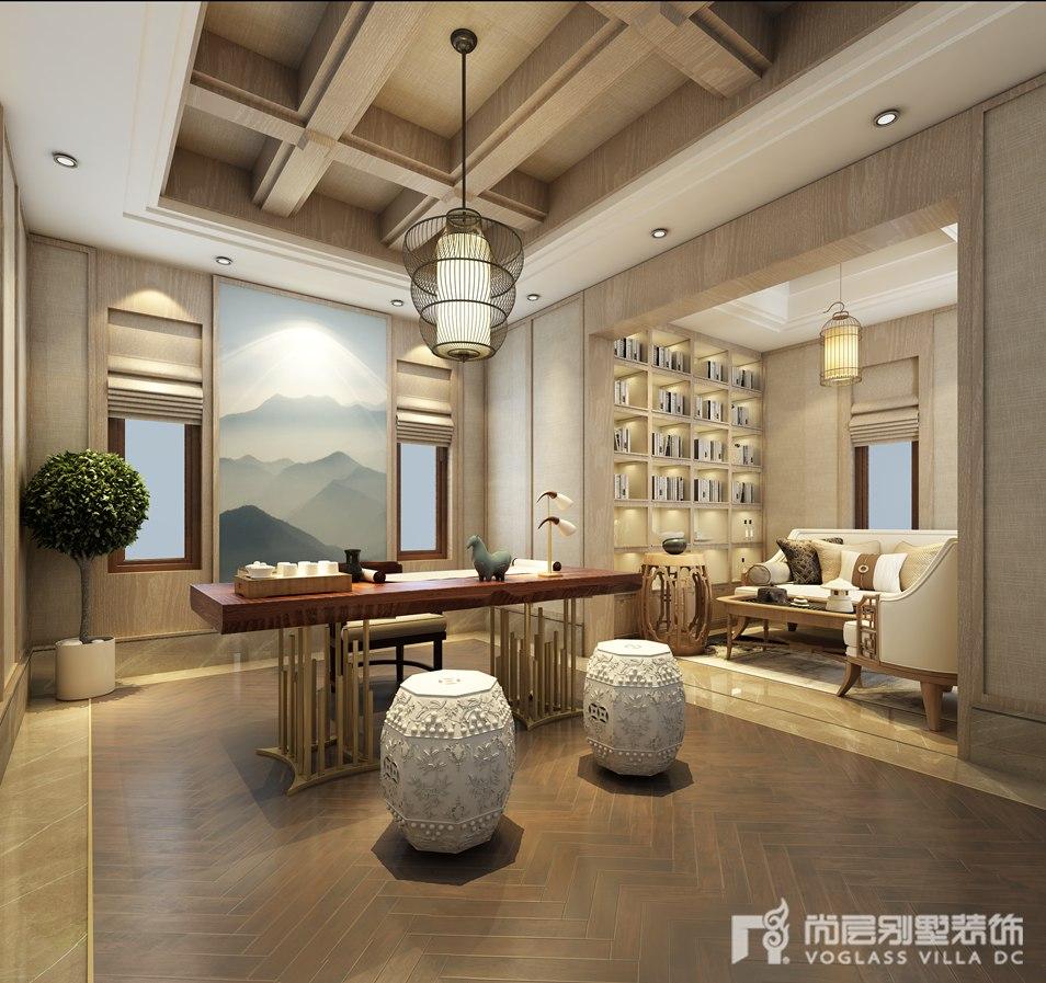 新中式风格别墅装修设计效果图