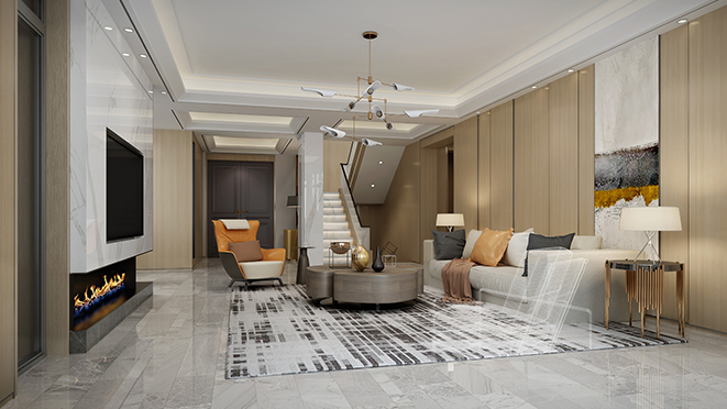 九龙山庄500平米现代风格别墅装修设计效果图