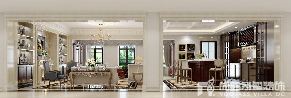 欧式新古典风格别墅装修设计效果图