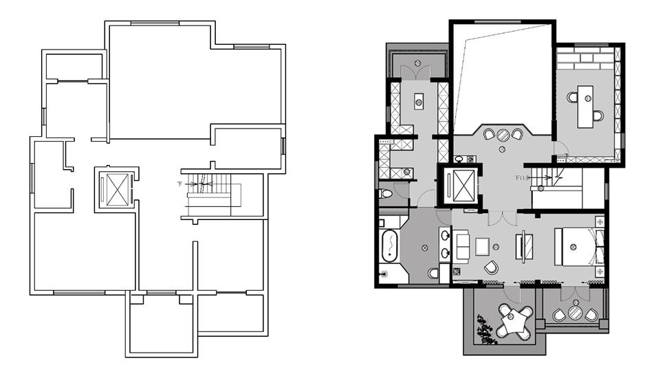 鲁能格拉斯小镇别墅装修设计平面图